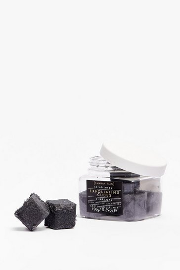 Cubes exfoliants au charbon Sunday Rain, Black