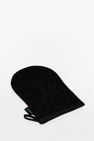Black SUNKISSED You're Exfoliate Charcoal Mitt