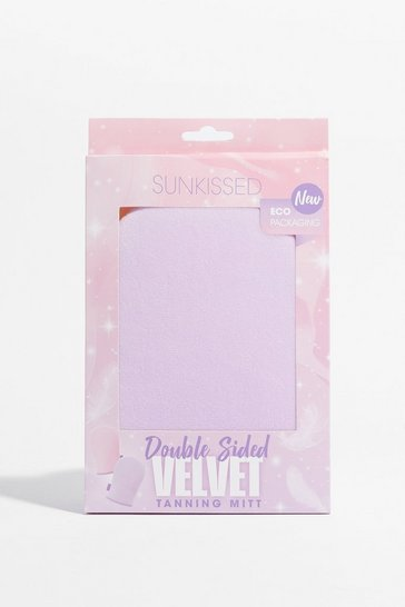 Lilac Eco Pack Double Sided Velvet Tanning Mitt