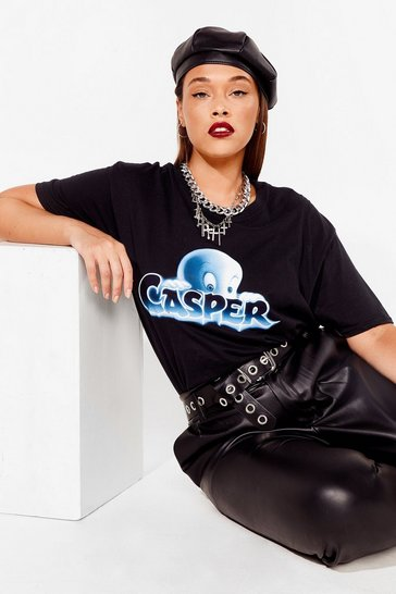 Black You've Been Ghosted Casper Plus Graphic Tee