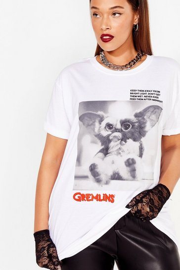 White Plus Size Gremlins Graphic Tee