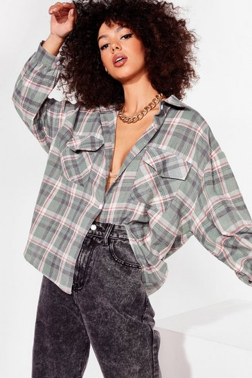 Sage Checked Shirt