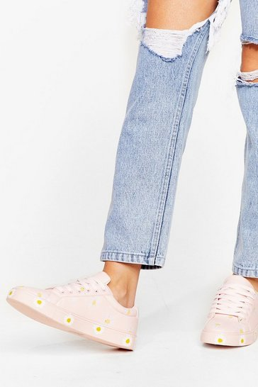 Pink Way to Grow Floral Platform Sneakers