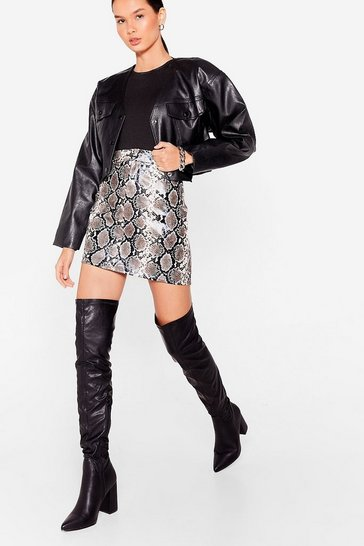 Black We Heel You Babe Over-the-Knee Wide Fit Boots
