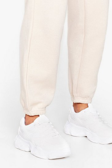 White Running Out of Excuses Chunky Lace-Up Sneakers