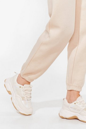 Nude Run It By Us Faux Leather Chunky Sneakers