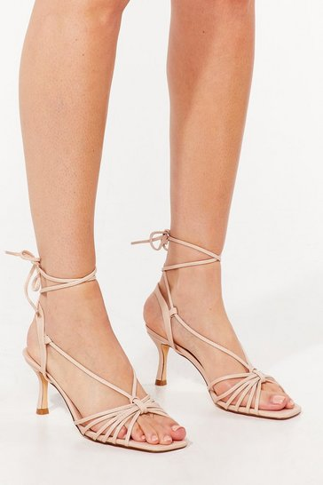 Nude Dance Magic Strappy Kitten Heels