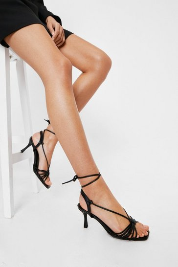 Black Dance Magic Strappy Kitten Heels