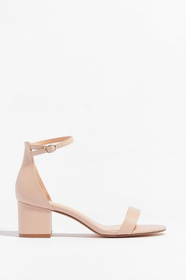 Nude On the Lowdown Faux Leather Heeled Sandals