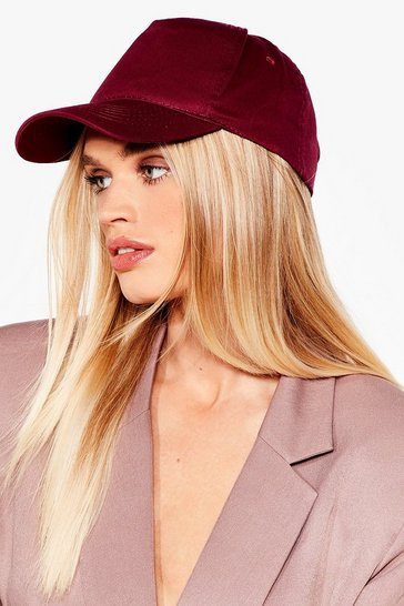 Burgundy Plain baseball cap