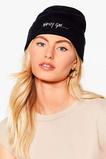Black Nothing But a Nasty Gal Knit Beanie