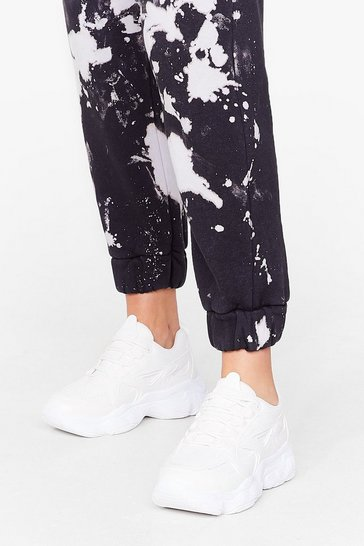 White Make a Run For It Chunky Lace-Up Trainers