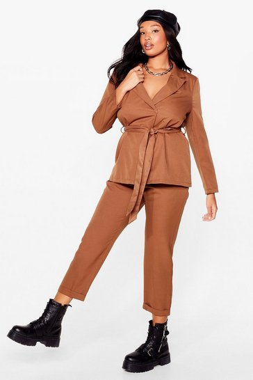 Camel Suits You Plus Tapered Trousers
