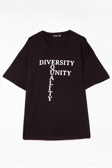 Black Equality Unity Plus Graphic Tee