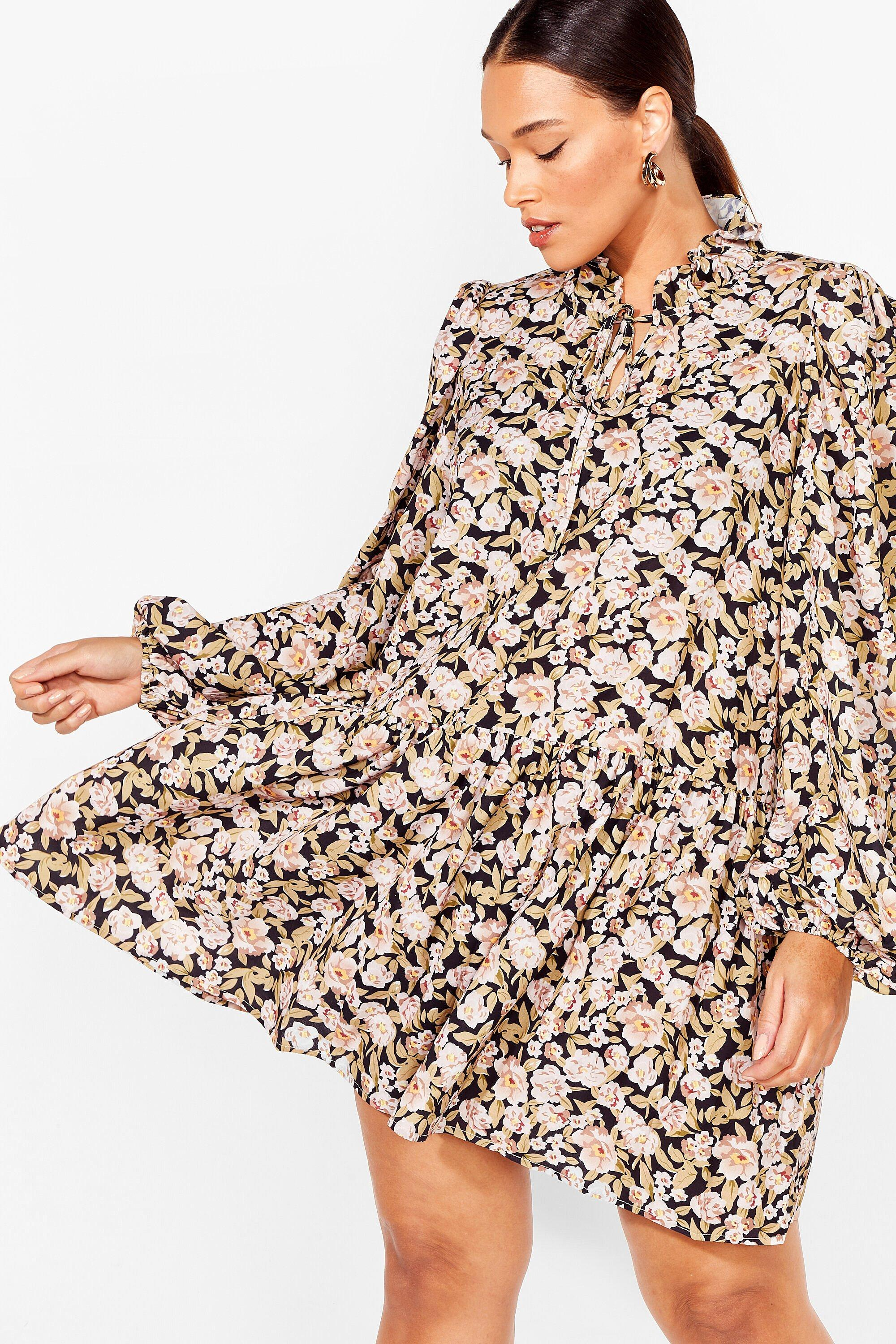 Smock 'Em All Plus Floral Dress 15