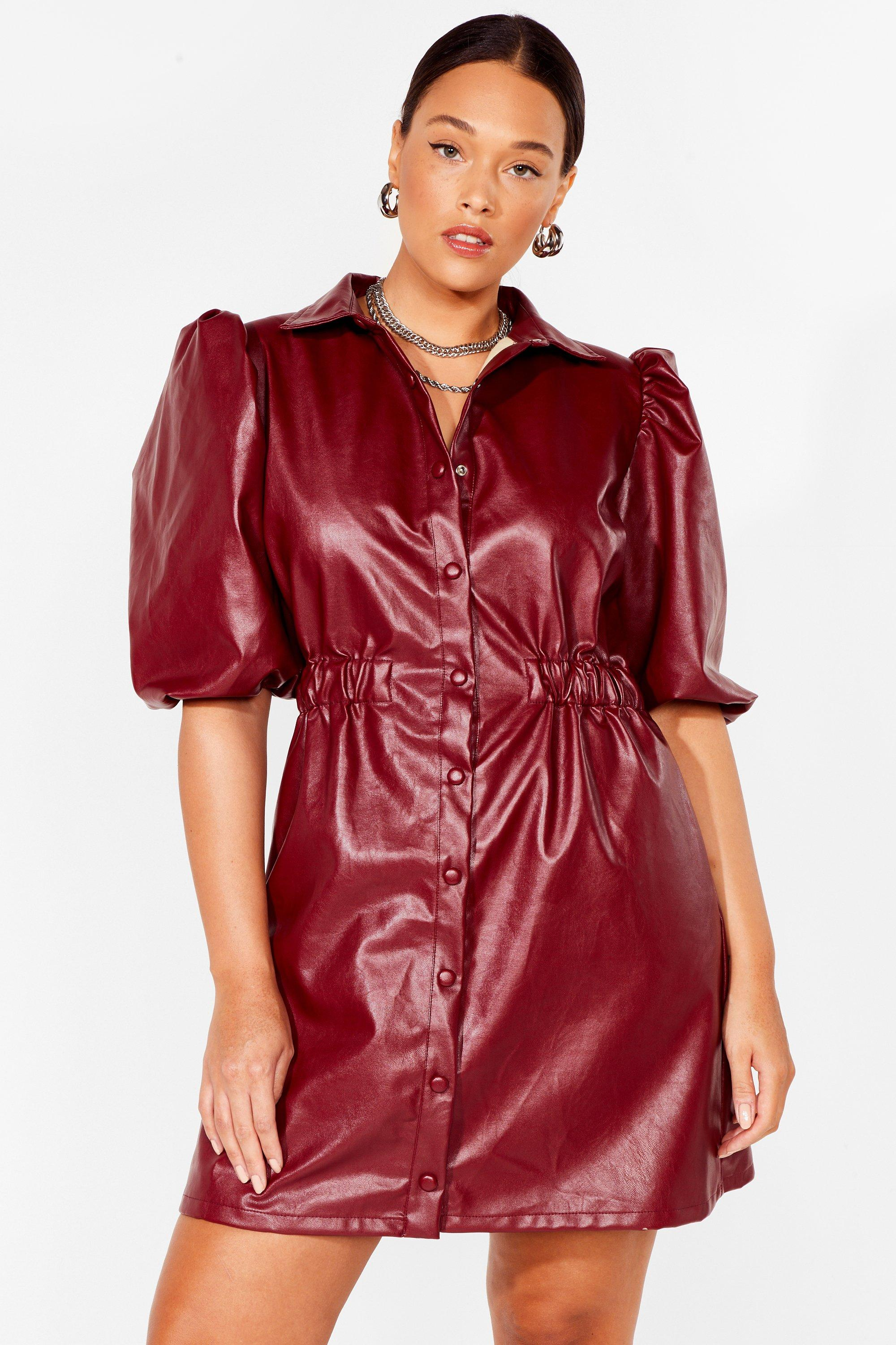 If You Faux Leather Wanna Be in Love Plus Dress 19