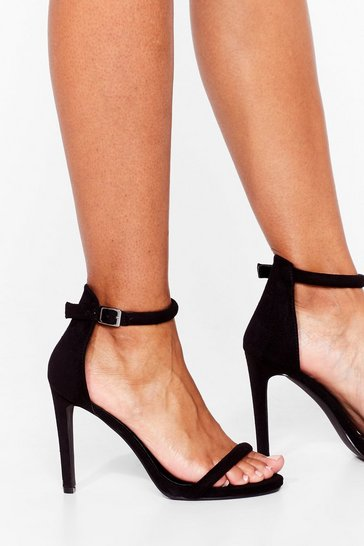 Black Strappy to See You Wide Fit Stiletto Heels