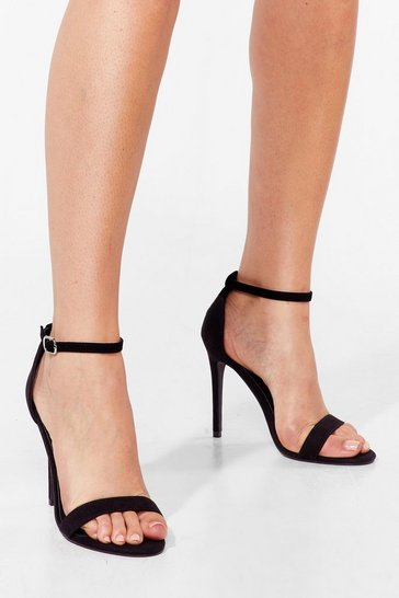 Black Keep On Dancin' Faux Suede Stiletto Heels