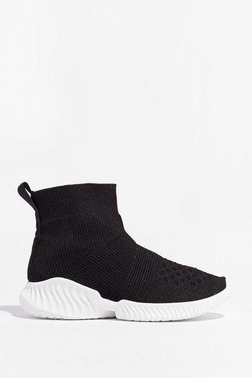 Black Knit the Town High Top Sneakers