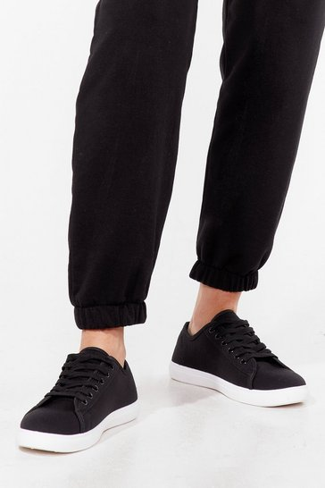 Black Lace Take It Slow Canvas Sneakers