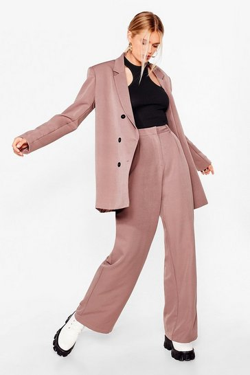 Oversized Wide Leg Trouser Suit