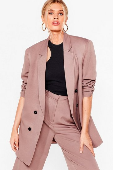 Mauve Ain't Nobody's Business Oversized Blazer