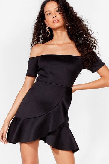 Black Show Me Off-The-Shoulder Dress