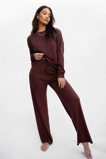 Chocolate It Takes Crew Rib Sweatshirt and Pants