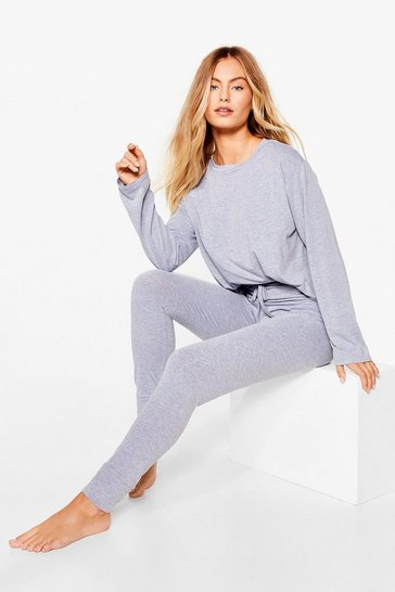 Grey Tee Right Back Jogger Pyjama Set