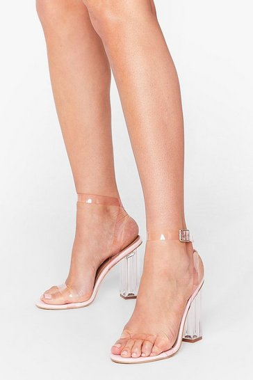 Pink Let's Be Clear Heeled Sandals