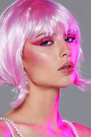 Pink After Dark Short Synthetic Wig