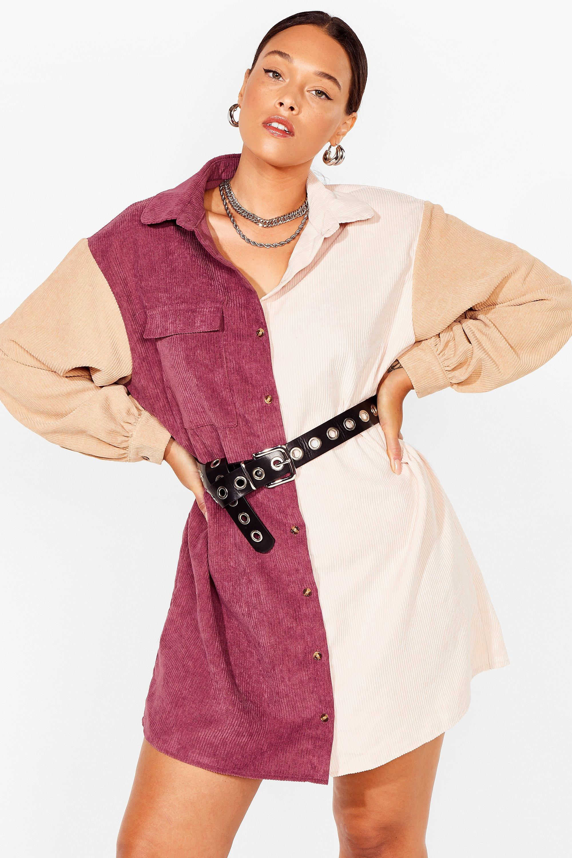 Writers Block Plus Two-Tone Shirt Dress 16