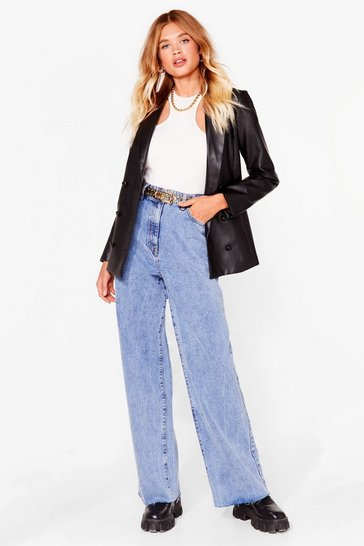 Vintage blue Washing Over You Wide-Leg Jeans