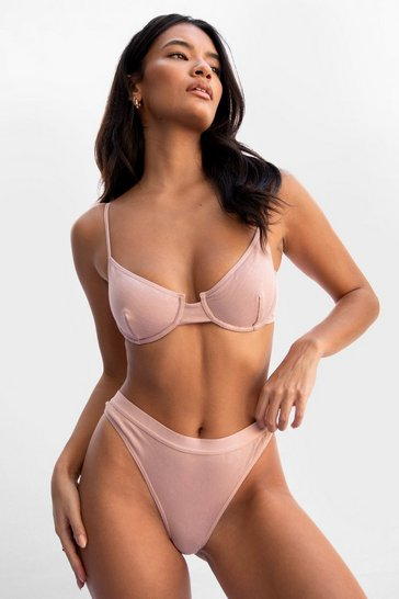 Blush Underwire Me Cash Bralette and Thong Set