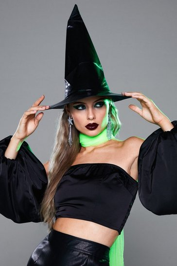 Black Witch Please Vinyl Witches Hat