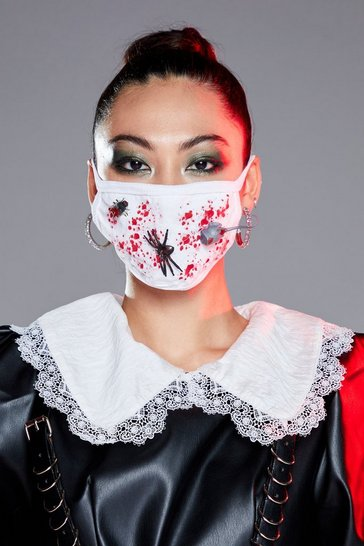 White Halloween Fashion Face Mask