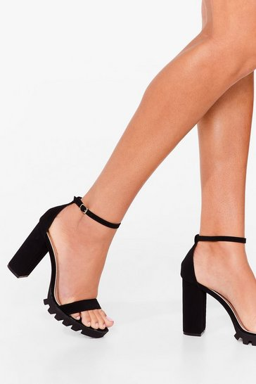 Black Right on Track Cleated Heels