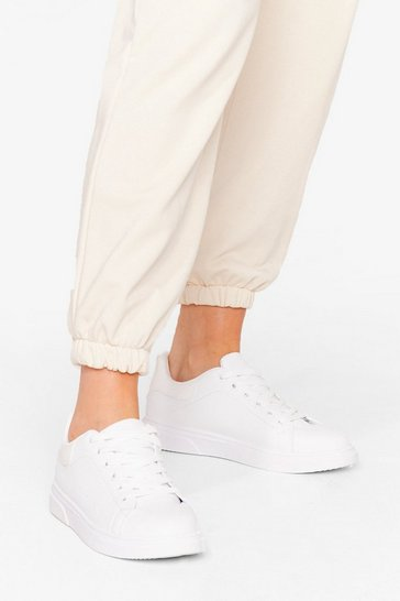 White Run It's Course Croc Lace-Up Sneakers