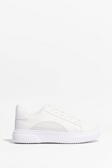 White Sole Provider Platform Sneakers