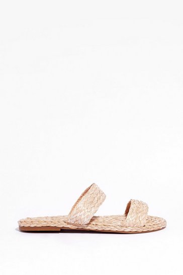 Natural This is Not a Espadrille Woven Flat Sandals