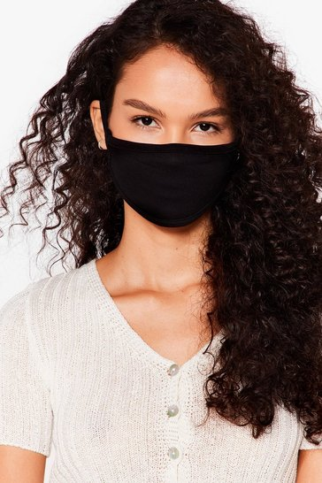 Black All Mouth Fashion Face Mask
