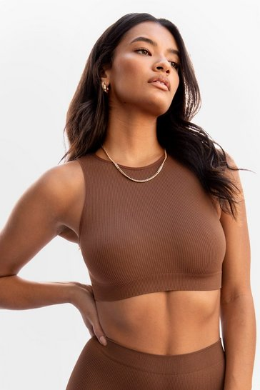 Chestnut Seamless Nights Racerback Bralette