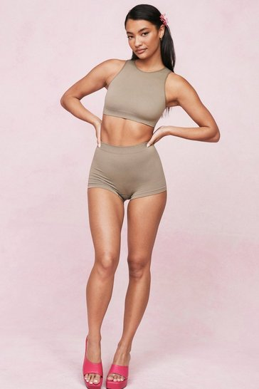 Taupe Seamless Nights Racerback Bralette