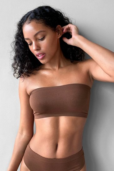 Chestnut Seamless Nights Bandeau Bralette