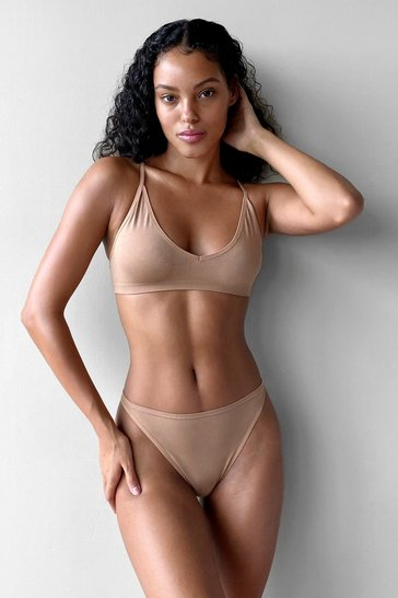 Tan Seamless Nights High-Leg Thong