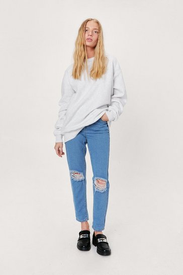Light wash Give 'Em a Shred Start Petite Distressed Jeans