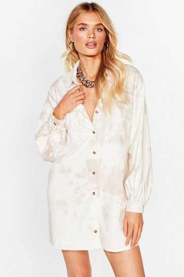 Stone Another Won't Shirt Tie Dye Mini Dress