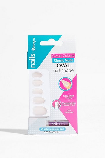 Nude You've Got Nail Oval False Nail Set