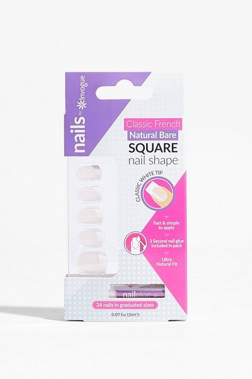 Nude Baby You're So Classic Square False Nails Set