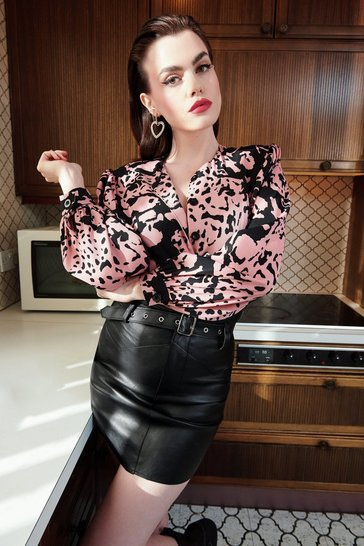 Pink Ever Fallen in Love Floral Satin Blouse